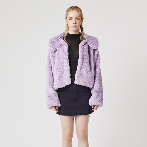 [셀피쉬] VALEMOUNT MINK JACKET (SAW2JK01) (LIGHT PURPLE)